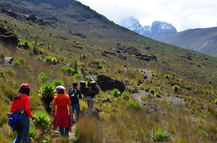 Climbing Mt.Kenya Sirimon – Adventure Backpackers Tanzania